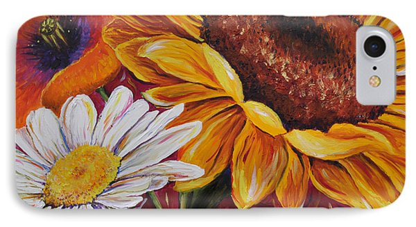 Kathrin's Flowers IPhone Case by Lisa Fiedler Jaworski