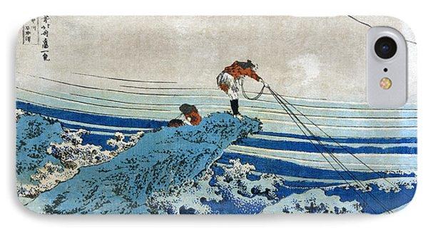 Katsushika: Fishing, C1834 Phone Case by Granger
