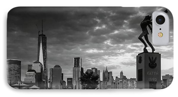 IPhone Case featuring the photograph Katyn New World Trade Center In New York by Ranjay Mitra