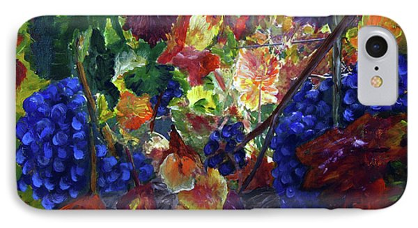 Katy's Grapes IPhone Case by Donna Walsh