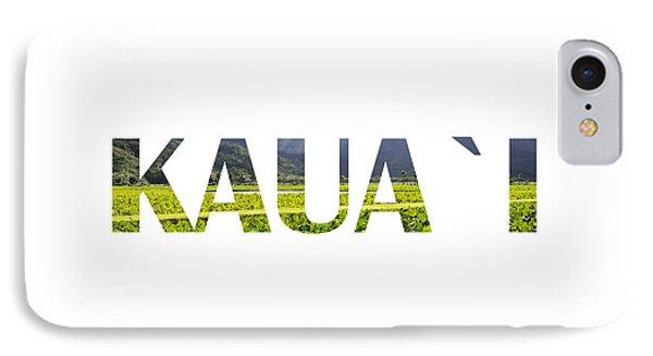 Kauai Letter Art IPhone Case by Saya Studios