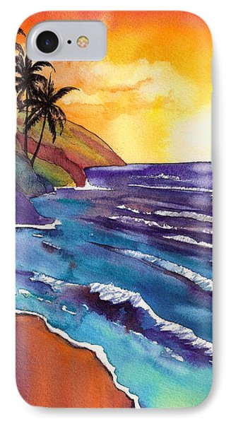 Kauai Na Pali Sunset IPhone Case by Marionette Taboniar