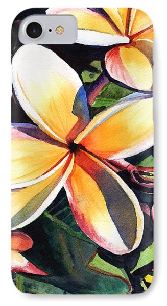 Kauai Rainbow Plumeria IPhone Case by Marionette Taboniar