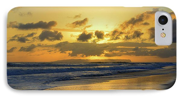 Kauai Sunset With Niihau On The Horizon IPhone Case