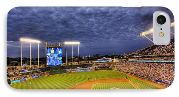 Kauffman Stadium Twilight Phone Case by Shawn Everhart