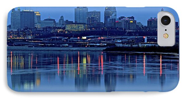 Kaw Point Blue Hour Reflection IPhone Case