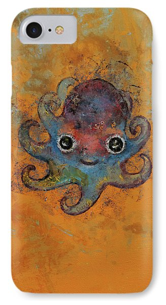 Baby Octopus IPhone Case by Michael Creese