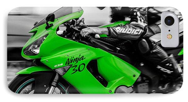 Kawasaki Ninja Zx-6r IPhone Case by Andrea Mazzocchetti