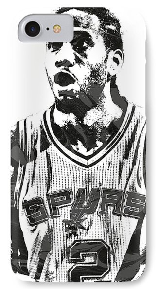 Kawhi Leonard San Antonio Spurs Pixel Art 4 IPhone Case