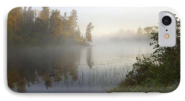 IPhone Case featuring the photograph Kawishiwi Morning Fog by Larry Ricker