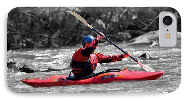 Kayak 1 IPhone Case by Todd Hostetter