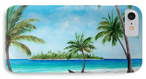 Kayak On The Beach IPhone Case by Lloyd Dobson