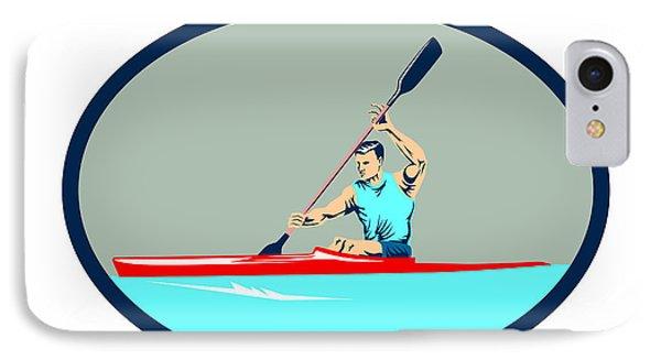 Kayak Racing Canoe Sprint Oval Retro IPhone Case
