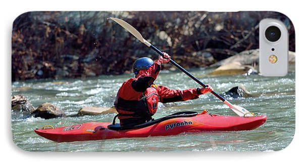 Kayak IPhone Case by Todd Hostetter