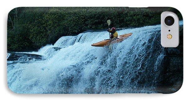 Kayak Triple Falls IPhone Case by Steven Sloan