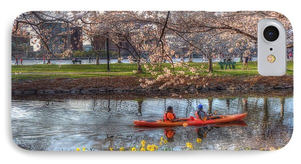 Kayaking On The Charles River - Boston IPhone Case by Joann Vitali
