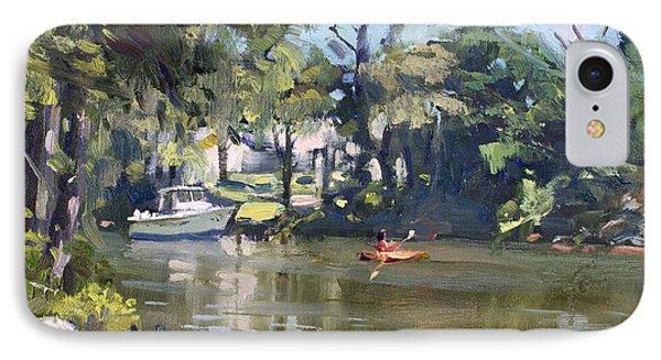 Geese iPhone 7 Case - Kayaking by Ylli Haruni