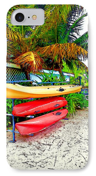 Kayaks In Paradise Phone Case by Joan  Minchak