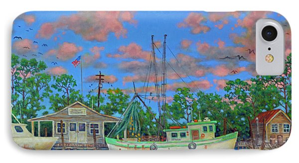 IPhone Case featuring the painting kayaks on the Creek by Dwain Ray