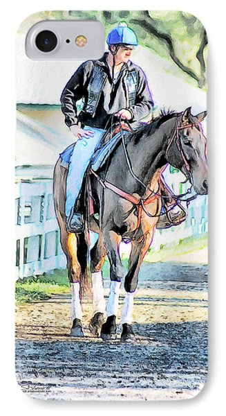 Keeneland Pony Boy Phone Case by Tom Schmidt