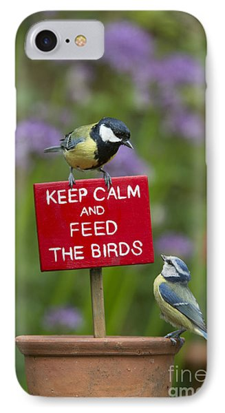 Titmouse iPhone 7 Case - Keep Calm And Feed The Birds by Tim Gainey