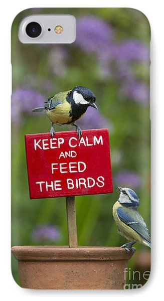 Keep Calm And Feed The Birds IPhone Case by Tim Gainey