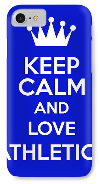 Keep Calm And Love Athletics IPhone Case by Andrew Hunt