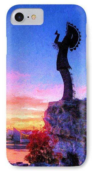 Keeper Of The Plains IPhone Case by JC Findley