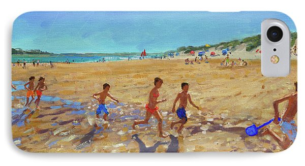 Keeping Fit, Wells Next To The Sea  IPhone Case by Andrew Macara