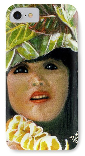 Keiki Child In Hawaiian #115 Phone Case by Donald k Hall