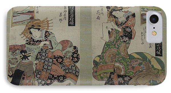 Keisai Eisen    Album Of Prints From The Series A Tkaid Board Game Of Courtesans Fifty Three Pairings In The Yoshiwara Keisei Dch Sugoroku Mitate Yoshiwara Gojsan Tsui IPhone Case
