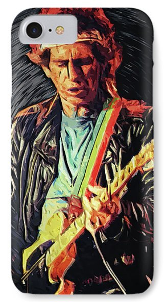 Keith Richards IPhone Case by Taylan Apukovska