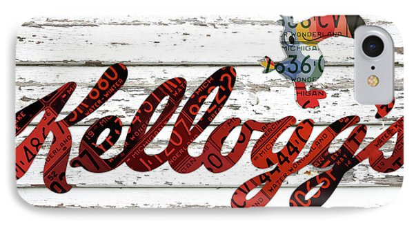 Kelloggs Fruit Loops Cereal Michigan Vintage License Plate Art IPhone Case by Design Turnpike
