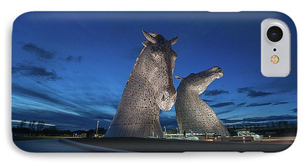 IPhone Case featuring the photograph Kelpies  by Terry Cosgrave