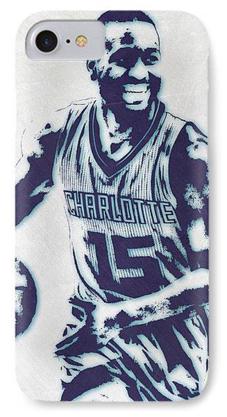 Kemba Walker Charlotte Hornets Pixel Art 2 IPhone Case