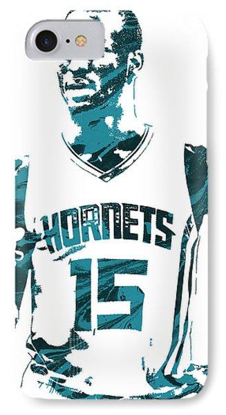 Kemba Walker Charlotte Hornets Pixel Art 4 IPhone Case by Joe Hamilton