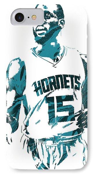Kemba Walker Charlotte Hornets Pixel Art 5 IPhone Case by Joe Hamilton
