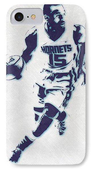 Kemba Walker Charlotte Hornets Pixel Art IPhone Case by Joe Hamilton