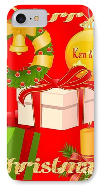 Ken And Lori Xmas Greeting  IPhone Case