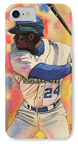 Ken Griffey Jr. Seattle Mariners IPhone Case by Michael Pattison