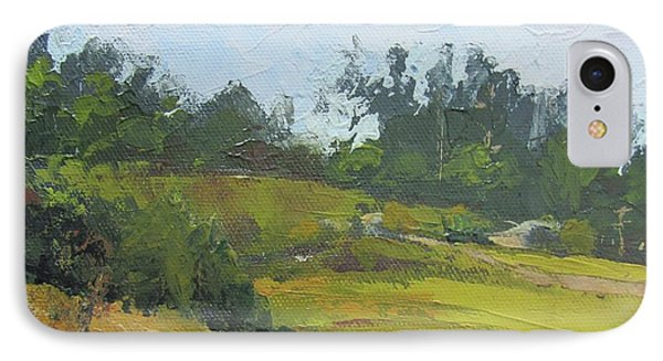 IPhone Case featuring the painting Kenilworth Hills Queensland Australia by Chris Hobel