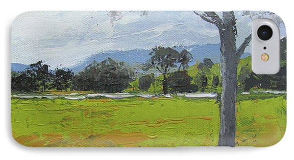 IPhone Case featuring the painting Kenilworth Landscape Queensland Australia by Chris Hobel