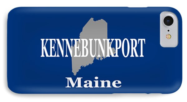 IPhone Case featuring the photograph Kennebunk Maine State City And Town Pride  by Keith Webber Jr