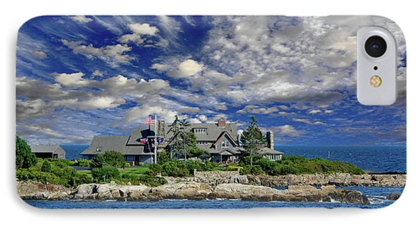 Kennebunkport, Maine - Walker's Point IPhone Case by Russ Harris