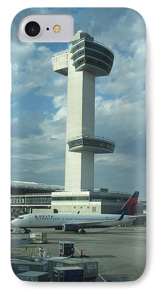 Kennedy Airport Control Tower IPhone Case by Christopher Kirby