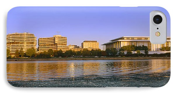 Kennedy Center And Watergate Hotel IPhone Case by Panoramic Images