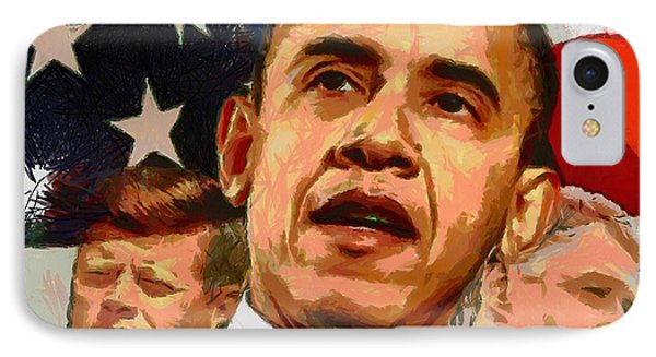 Kennedy-clinton-obama IPhone Case by Anthony Caruso