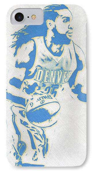 Kenneth Faried Denver Nuggets Pixel Art IPhone Case by Joe Hamilton