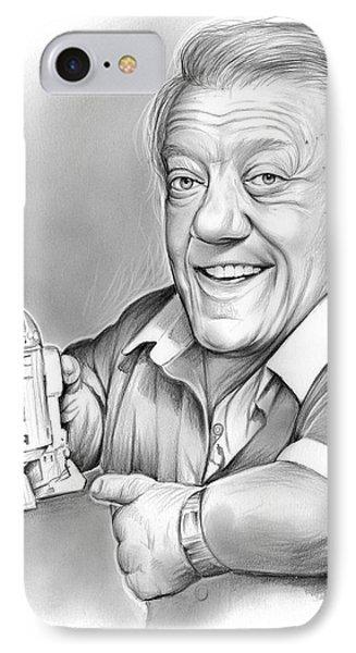 Kenny Baker R2d2 IPhone Case by Greg Joens