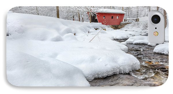 Kent Connecticut Winter Stream IPhone Case by Bill Wakeley